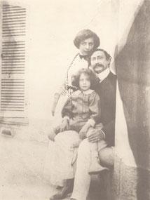 Lise Bloch, Léon Blum et leur fils Robert