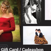 A gift card for a family shoot in our studio is the most original present.