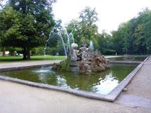 Eins der drei Wasserbecken am Heidelberger Schloss. Foto: Christel Pietsch