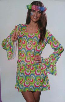 Hippi-Damenkleid mit Gürtel, Gr.M+ L, Fr.25.-