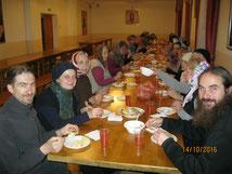 Трапеза в Спасо-Преображенском монастыре в Муроме.