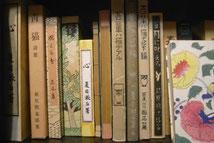 名著復刻全集(近代文学館)が並ぶエクスプランテの本棚