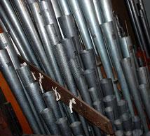 Tuyaux de l'orgue du Likès