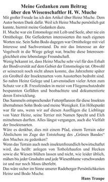 """W. Heinz Muche; Leserbrief in """"die Radeberger"""" vom 3.4.2020"""