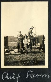 Naumann und Hinsche auf der Farm bei Winnipeg