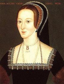 Anne Boleyn trägt einen French hood (flickr, Foto von Lisby) - Tudor Elisabethianisch Elizabethan fashion