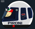 Helmet of Didier Pironi by Muneta & Cerracín
