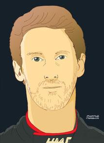 Romain Grosjean by Muneta & Cerracín