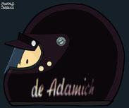 Helmet of Andrea de Adamich by Muneta & Cerracín