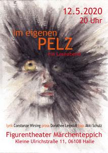Plakat Lesung - Autoren: Dorothee Leipoldt und Constanze Wirsing - Musik: Akki Schulz