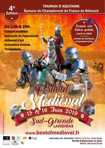 affiche médiévale Landiras