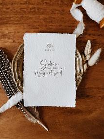 Boho Dankeskarte Hochzeit