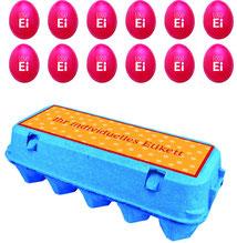 12er Ostereier Verpackung, Ostereier bedrucken, Ostereier bedruckt, Ostereier mit Logo, ostereier bedrucken lassen