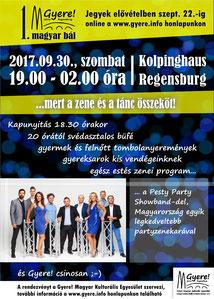 magyar iskola regensburg, gyere party, pesty party showband, magyar bál