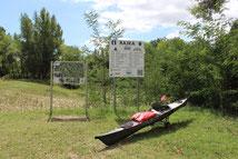 Offizielle Einstiegsstelle bei Rajka