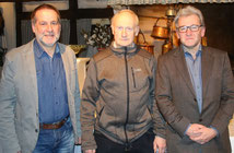 v.l.: Peter Fuhrmann - Geschäftsführer LG Sieg, Klaus Acher - Vorsitzender LG Sieg, Gregor Blanke - LA-Kreisvorsitzender (Bilder: R. Weiss)