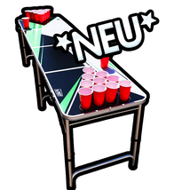 Bier Pong Tisch Beer Pong Table Alex Light and Sound Trinkspiel
