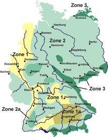 Schneelastzonen in Deutschland - Urheber Störfix