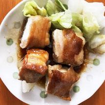 豚バラ肉の豆腐巻き