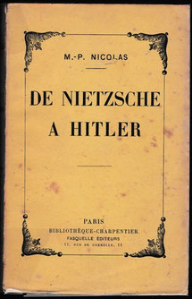 De Nietzsche à Hitler