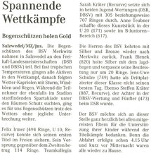 Artikel - Freiluft-Meisterschaften in Salzwedel 2005