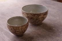 陶芸家、小林雄一、西山奈津の作る食器ライン、NKCERAMICA(エヌケーセラミカ)の作品。彩泥ボウル