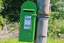 お問い合わせ アイルランドの郵便ポスト