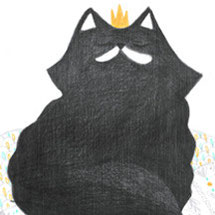 violaine costa illustration chat roi crayon