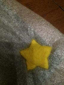 羊毛フェルト クッキー型 星 作り方