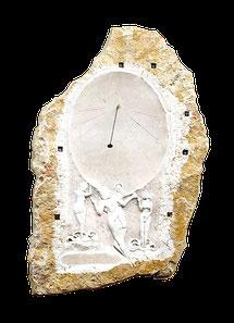 Sculpture de Prévesin-Moens, soeur de celle de Lacoux