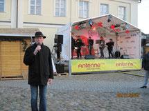 Angermünder Gänsemarkt. Moderator Angermünde, Bernd Winkler, Kerkow, Angermünde