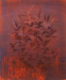 Burning, 2020, Öl auf MDF, 60 x 50 cm