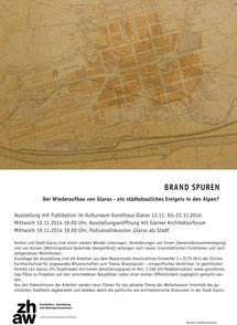 Brand Spuren, Kunsthaus Glarus
