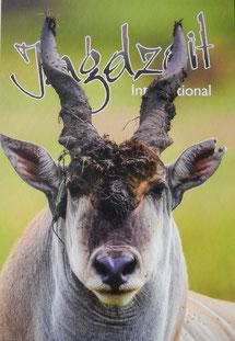 Jagdzeit Magazin Cover Eland Bulle, Ostafrika