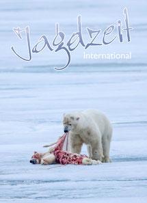 Jagdzeit International 27, Cover Eisbär frisst Eisbärbaby