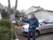 21-02-2014 : dépose des capteurs au point de prélèvement P6