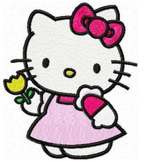Hello Kitty mit Blume
