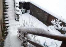 Le gite de liou sous la neige