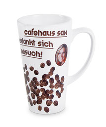 Fototasse, Tasse mit Bild, Latte-Becher