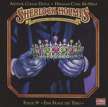 CD Cover Sherlock Holmes Folge 39 Eine Frage des Teers
