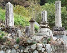 竹内家代々の墓地(一部)