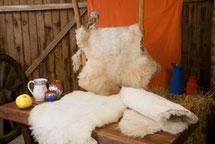 Sitzauflagen aus Wolle