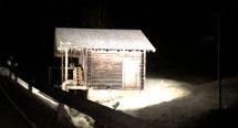 ECO 140 Beam mit 2 getrennten Strahlern, Spezial Optik , Lichtfarbe warmweiß, Standort Goldegg Salzburg