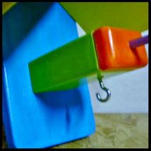 """Detail van Pindakaas pot houder """"Stok Speciaal"""""""