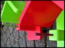 Pindakaas pot houders, kleur duo, rood, groen