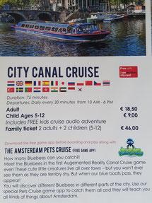 Werbung für die Canal Cruise