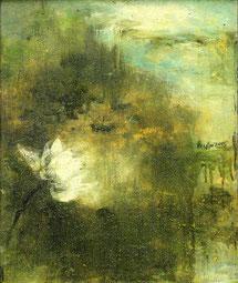 清荷5 GREEN LOTUS 2 60X50CM 布面油画 OIL ON CANVAS 2005 (收藏于上海 COLLECTED IN SHANGHAI)