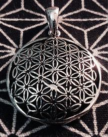 Flower of Life silver pendant head
