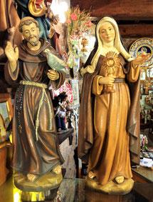 Sculture San Francesco e Santa Chiara