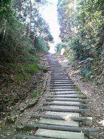 階段を登りきると